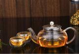 Стекло набор Teapot боросиликатного стекла двойные стенки стеклянной чашки чая