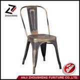 도매 녹슬지 않는 고대 의자 포도 수확 금속 의자 고대 식사 의자