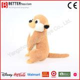 중국 제조소 견면 벨벳 박제 동물 연약한 Meerkat 장난감