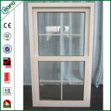 Doppio telaio singolo Windows di vetro appeso di UPVC con il disegno della parte interna delle griglie