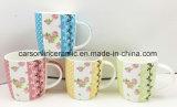 De eenvoudige Mok van de Koffie van China van het Been van de Bloem Nieuwe 12oz Ceramische