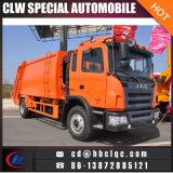 Camion d'ordures de contrat de camion de compacteur d'ordures de JAC 10cbm 12cbm