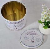 Contenitore rotondo di stagno della caramella con la finestra libera per il regalo promozionale
