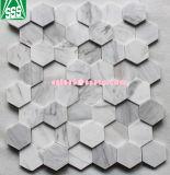 Volakasカラーラの白い大理石の六角形の形のモザイク