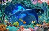Kleur die 3D OceaanTegel van de Muur van het Porselein van de Wereld (VPA6A111) snijden