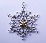 A árvore de prata do Xmas do OEM Ornaments o floco de neve Snata
