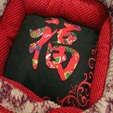 [شنس] تصميم تطريز حمراء ليّنة محبوبة سرير لأنّ كلب [بدّينغ]