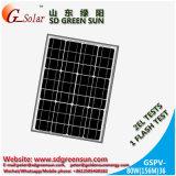 mono painel 80W solar para a luz solar