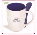Imprimé en couleur personnalisés Mug porcelaine avec cuillère