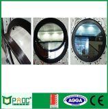 Окно одиночного стеклянного алюминиевого профиля круговое с сертификатом ISO