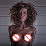 muñeca realista del sexo de la muchacha del negro del silicio de la pequeña del pecho del 155cm muñeca del negro para los hombres