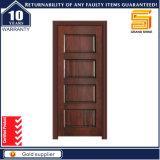 Portes simples en bois intérieures de panneau extérieur en bois solide