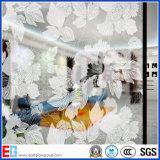 O ácido desobstruído gravou o vidro de teste padrão & o vidro geado