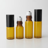 [2مل] [3مل] [5مل] لون صغيرة كهرمانيّة لف زجاجيّة على زجاجة مع غطاء أسود لأنّ [إسّنتيل ويل] عطر رائحة مختبر عيّنات تجميع