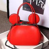 在庫Emg4761の女性のためのMickey様式の本革のショルダー・バッグ