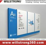 Miroir en aluminium d'argent de matière composite de peinture graphique
