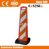 Pannello base di plastica nera verticale per la sicurezza stradale Delineator