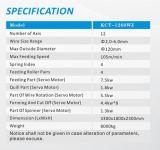 Kcmco-Kct-1260wz 5mm ressort souple sans cames de commande numérique par ordinateur de 12 axes formant plat Machine& guide la torsion de prolonge/la machine ressort de véhicule