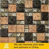 Metallo della miscela del mosaico di cristallo del documento di parete di disegno della foglia di acero