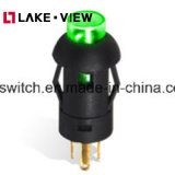 Pleの円形の8mmの帽子が付いているシリーズによって照らされる押しボタンスイッチ