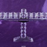 Crystal Cup Shape Glass Candle Holder for Holidays