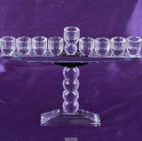 Кристально чистый сосуд форма стекла при свечах держатель для праздников