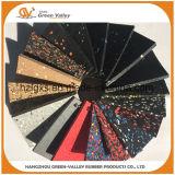 Esteiras de pavimentação de borracha coloridas aprovadas da borracha de Rolls do alcance
