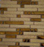 Venta caliente Tira de cristal de oro y metal mosaico de decoración de la pared
