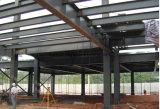 Taller prefabricado de la estructura de acero con la grúa