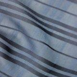 Тонкая ткань полиэфира голубой нашивки для одежды