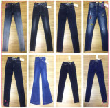 10oz тонкий женщин джинсы (HYQ113-01GDT)
