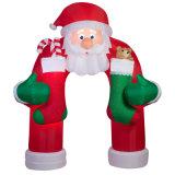 美しいニースの休日のパーティの装飾のサンタのための膨脹可能なクリスマスのアーチ
