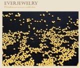 1mm Abalorios bola de metal de oro y plata de Decoración de uñas
