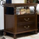 Legno solido Nightstand (AS830) della mobilia della camera da letto di alta qualità
