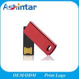 금속 USB Pendrive 소형 USB 플래시 메모리 회전대 USB 지팡이