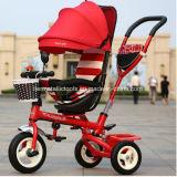 Трицикл младенца места прогулочной коляски колеса ребенка 3 вращая