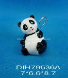 Supporto di ceramica dipinto a mano del biglietto da visita del panda