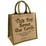 Eco-Friendly Green Oxford Jute Cotton Fabric Bolsa de compras saco de ombro