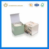 Rectángulo de empaquetado de la impresión del regalo de encargo barato de la vela (rectángulo de empaquetado de papel de la tarjeta)