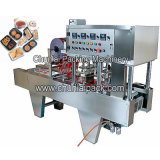 Machine de cachetage de plateau de lait caillé de soja