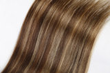 질 100% 사람의 모발 연장 실제적인 Remy 우수한 머리 매끄러운 똑바른 길쌈 16inch 브라운 색깔