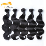 Extensões brasileiras do cabelo do Weave do cabelo não processado preto natural do Virgin