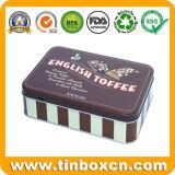 Rechteckiges Schokoladen-Biskuit-Zinn für Metallnahrung kann verpackenkasten