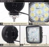 IP67 fuori strada Bridgelux indicatori luminosi rotondi del lavoro da 4.3 pollici 27W LED