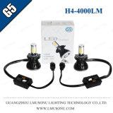 Linterna caliente de la venta G5 H4 LED de Lmusonu con el ventilador que refresca 9-36V 40W 4000lm