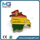 Emblema relativo à promoção do Pin de metal do OEM das vendas quentes