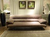 Nubuckの革カラー現代ソファーの家具