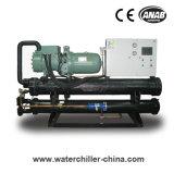 Refrigerador refrigerado a água do parafuso da baixa temperatura para a indústria da bebida & da bebida
