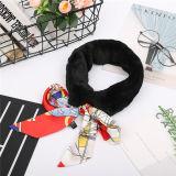 Le design professionnel Vison foulard doux chaleureux avec Bow Tie de la soie