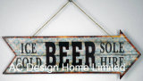La conception de la bière en Métal Décoration murale de la plaque d'impression